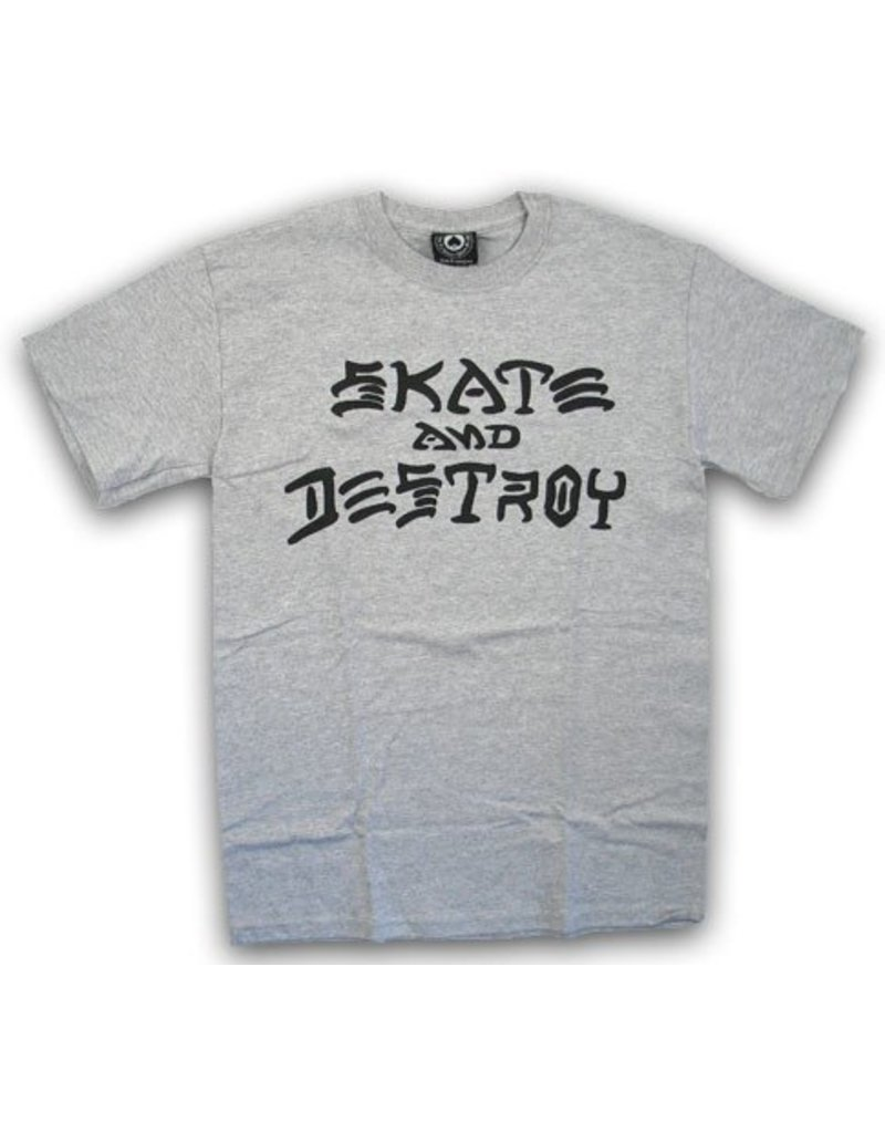 Thrasher Mag Thrasher Skate and Destroy T-shirt - Heather Grey
