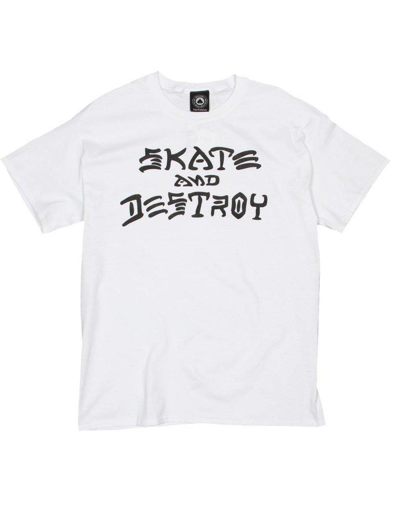 Thrasher Mag Thrasher Skate and Destroy T-shirt - White