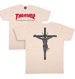 Thrasher Mag Trasher Resurection T-shirt - cream (Size X-Large