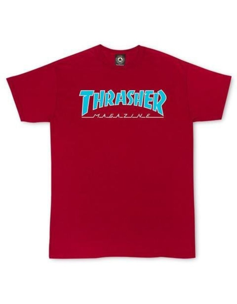 Thrasher Mag Thrasher Skate Mag Outlined T-shirt - Cardinel Red