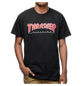 Thrasher Mag Thrasher Skate Mag Outlined T-shirt - Black/Red (Small)