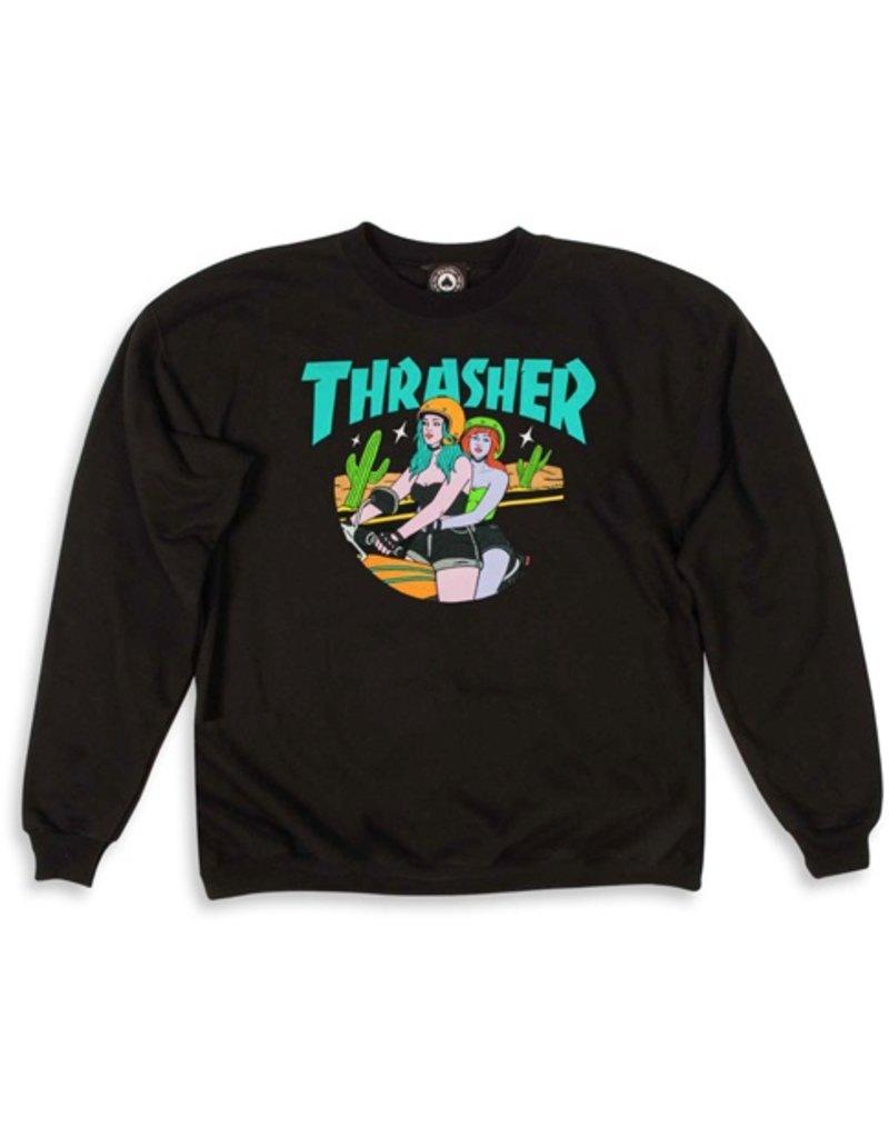 Thrasher Mag Thrasher Babes Crewneck - Black (size X-Large)