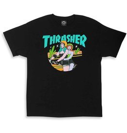 Thrasher Mag Thrasher Babes T-shirt - Black (Medium)