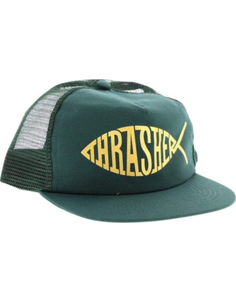 Thrasher Mag Thrasher Fish Mesh Hat - Green