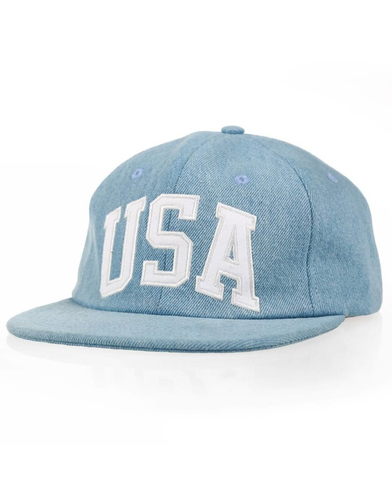 Huf Worldwide Huf USA Denim 6 panel Hat