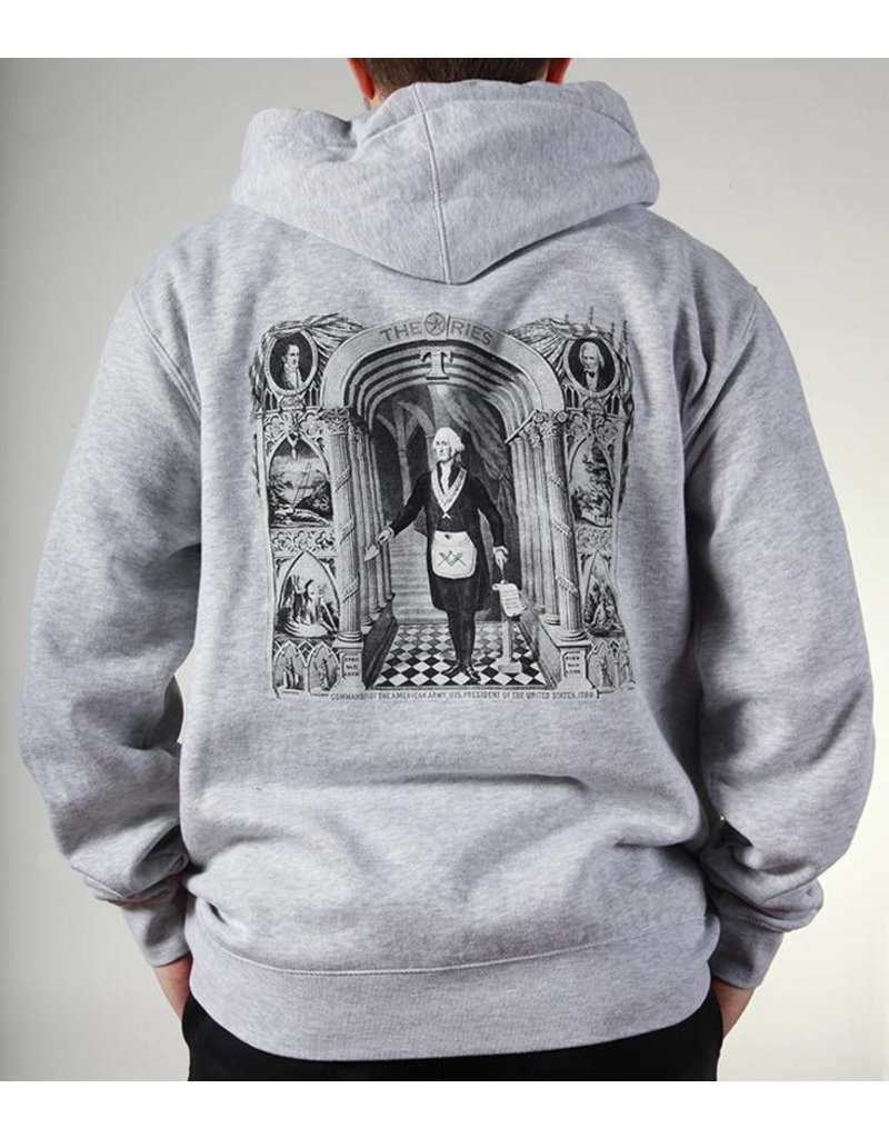 Theories Brand Theories Brand Initiation Hoodie - Heather Grey (size X-Large)