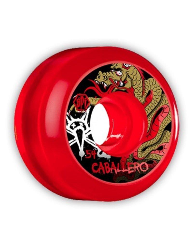 Bones Wheels Bones SPF Caballero Dragon Clear Red 58mm wheels (set of 4)