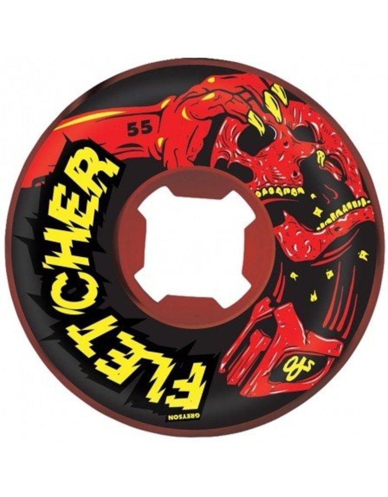 OJ wheels OJ 55mm Fletcher Mortal Red/Black swirl 101a wheels (set of 4)