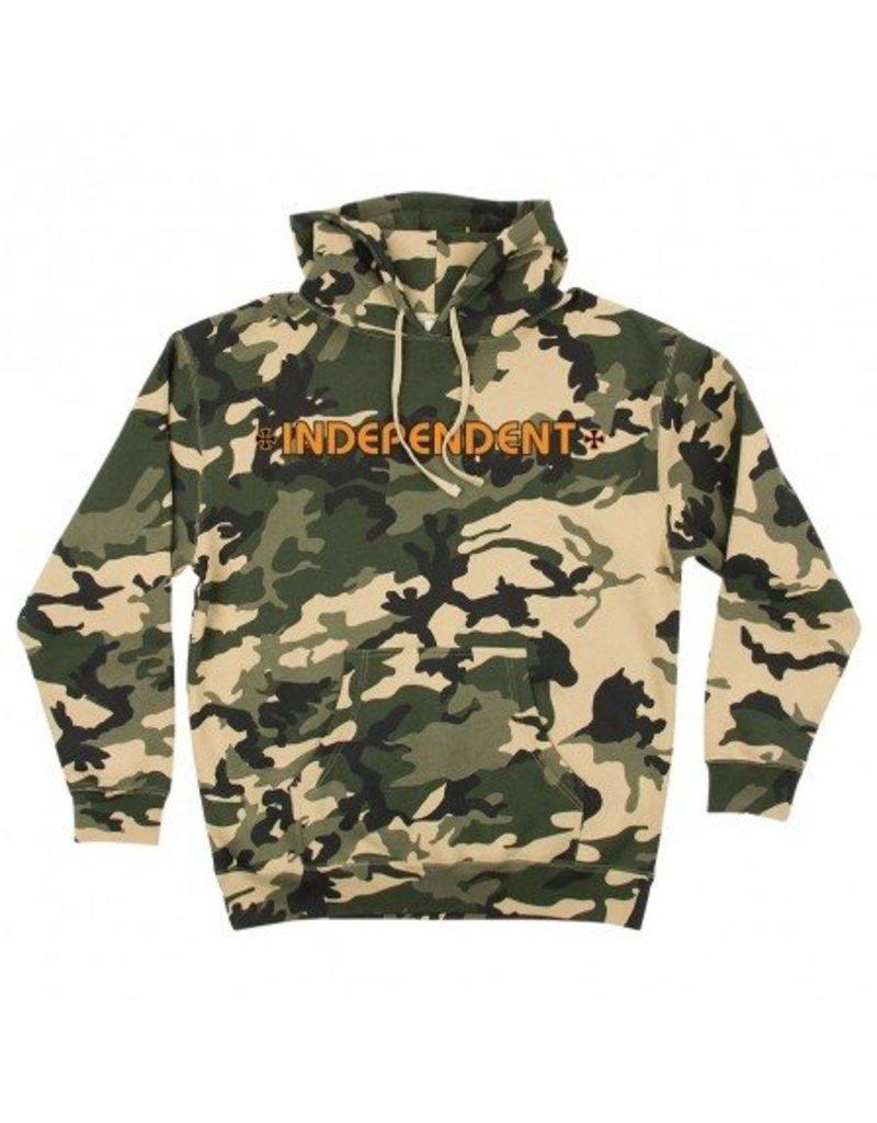 Independent Independent  Bar/Cross  Pullover Hoodie - Camo/Orange