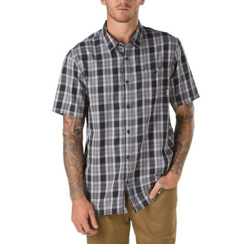 Vans Vans Sherborn S/S Button Up - Black  (Medium or X-Large)