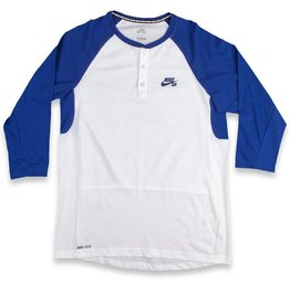 Nike SB Nike sb 3/4 Sleeve Henley Shirt - Royal Blue