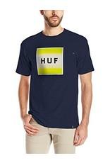 Huf Worldwide Huf Poster Box Logo T-shirt - Navy (Large)