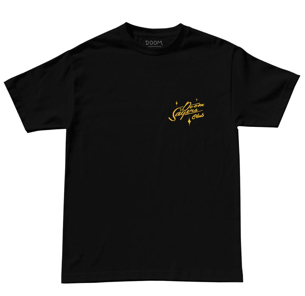 Doom Sayers Doom Sayers Sacto Script T-shirt - Black (sizes Small or Medium)