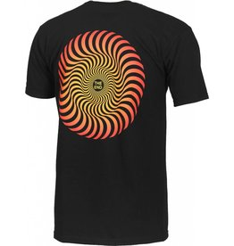 Spitfire Spitfire Classic Swirl Fade T-shirt - Black (Large)