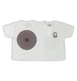 Spitfire Spitfire 3D Classic Swirl Youth T-shirt - White (Youth Medium)