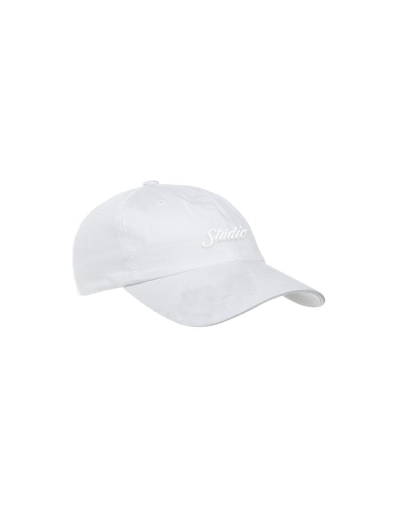 Studio Studio Script 6 panel Hat - White