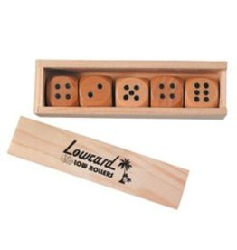 Lowcard Lowcard Wooden Low Rollers Dice