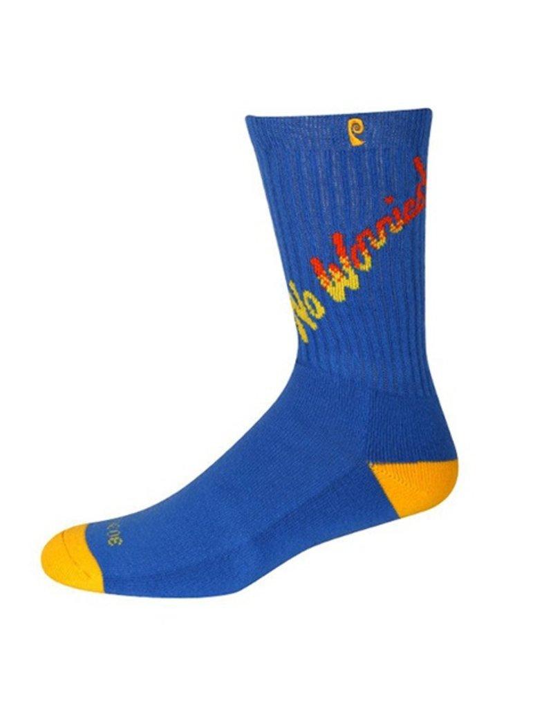 Psockadelic Psockadelic No Worries Royal/Yellow Socks