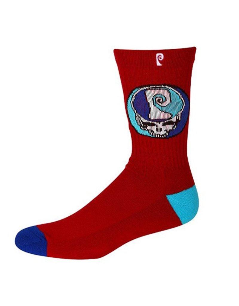 Psockadelic Psockadelic Greatful Burgundy/Blue Socks