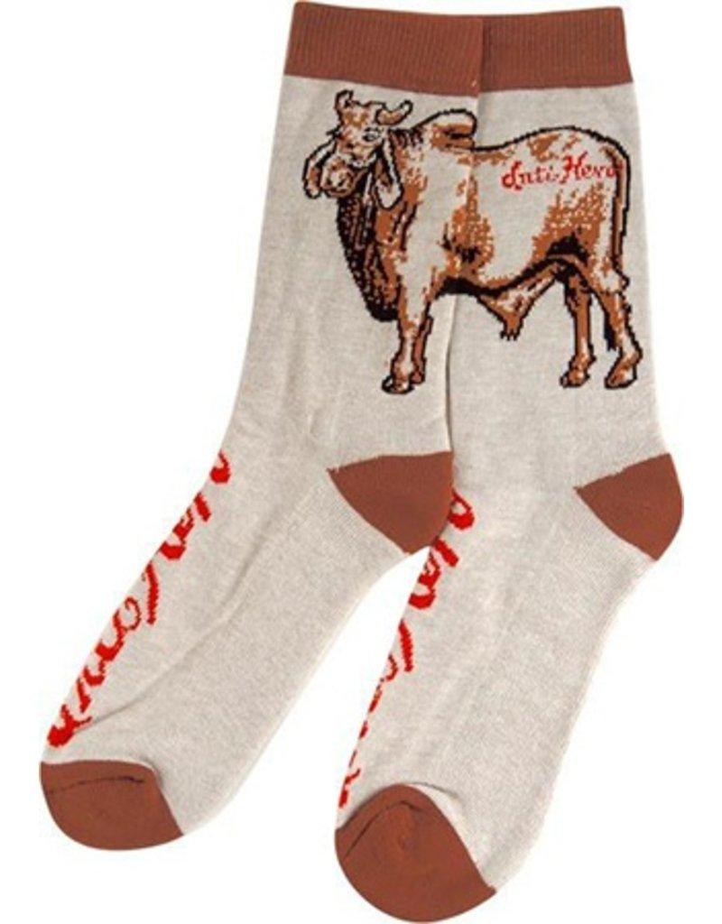 Anti-Hero Anti-Hero Cow Crew Heather Brown Socks