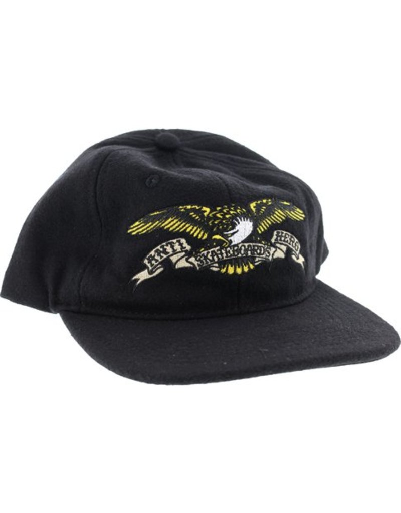 Anti-Hero Anti-Hero Eagle 6 Panel Hat - Black