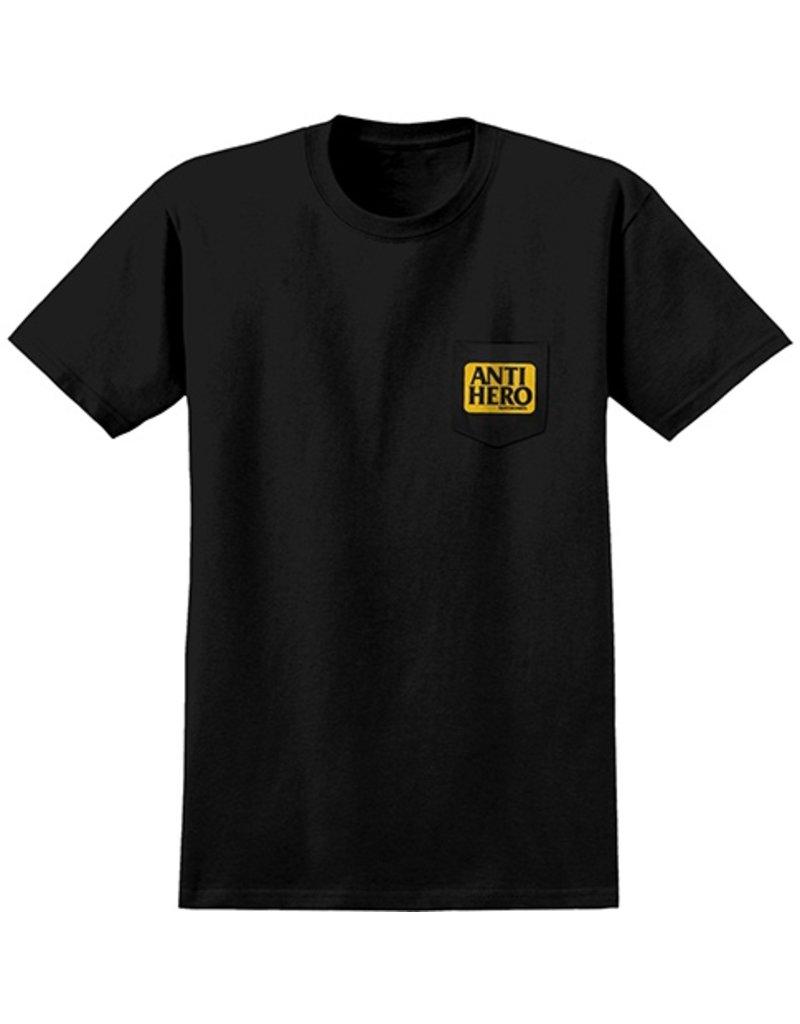 Anti-Hero Anti-Hero Reserve Pocket T-shirt - Black/Yellow
