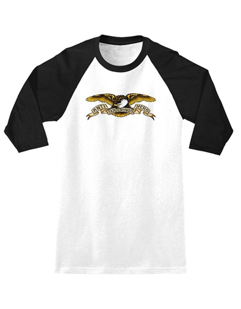 Anti-Hero Anti-Hero Eagle 3/4 Sleeve Shirt - White/Black