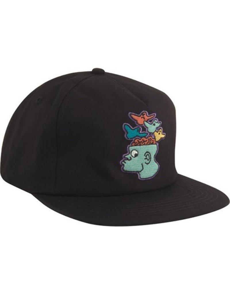 Krooked Krooked Brain Bird EMB Hat - Black