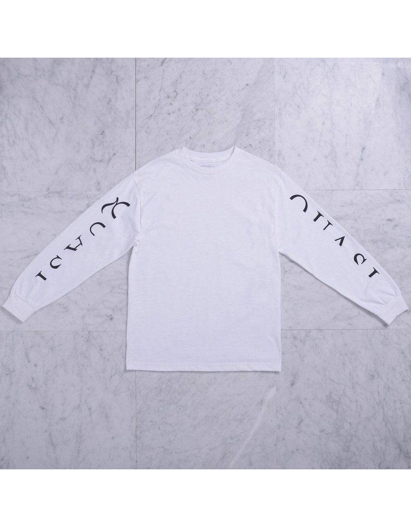 "Quasi Quasi 'Mono"" Long sleeve T-shirt -White (X-Large)"