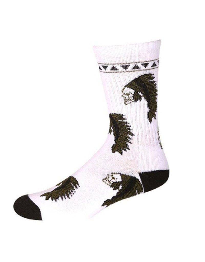 Psockadelic Psockadelic Ellington White/Black Socks