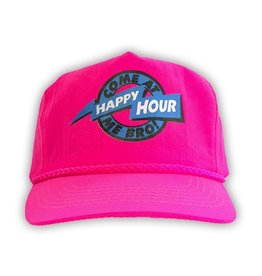 Happy Hour Happy Hour Come at me Bro! Nylon Hat - PInk