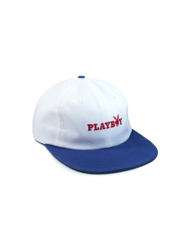 Good Worth & Co. Good Worth & Co. x Playby Bunny Text Hat - White/Navy