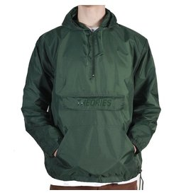 Theories Brand Theories Field Ops Hooded Windbreaker - Forest Green (size Large)