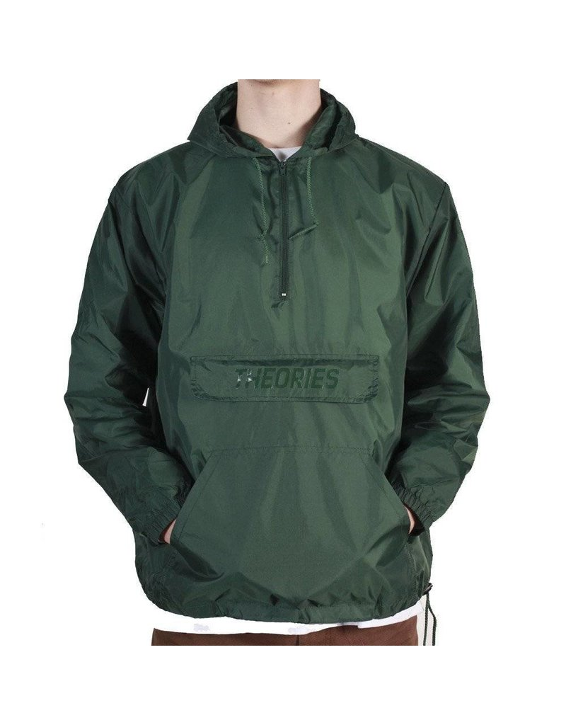 Theories Brand Theories Field Ops Hooded Windbreaker - Forest Green