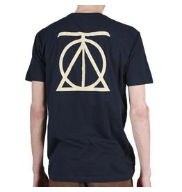 Theories Brand Theories Crest T-shirt - Midnight Navy/Cream