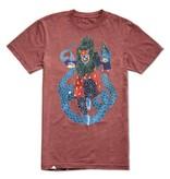 Altamont Altamont Snake Dance T-shirt - Burgundy