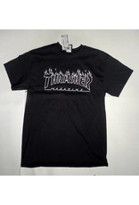 Thrasher Mag Thrasher Flame Outline T-shirt - Black  (size X-Large)