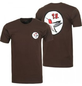 Transportation Unit Transportation Unit H Bird T-shirt - Brown (Medium)