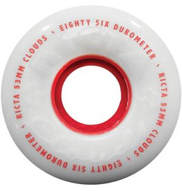 Ricta Ricta 53mm Clouds 86a Red Wheels (Set of 4)