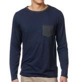 Analog Modus Longsleeve Pocket T-shirt - Navy/Blue (X-Large)