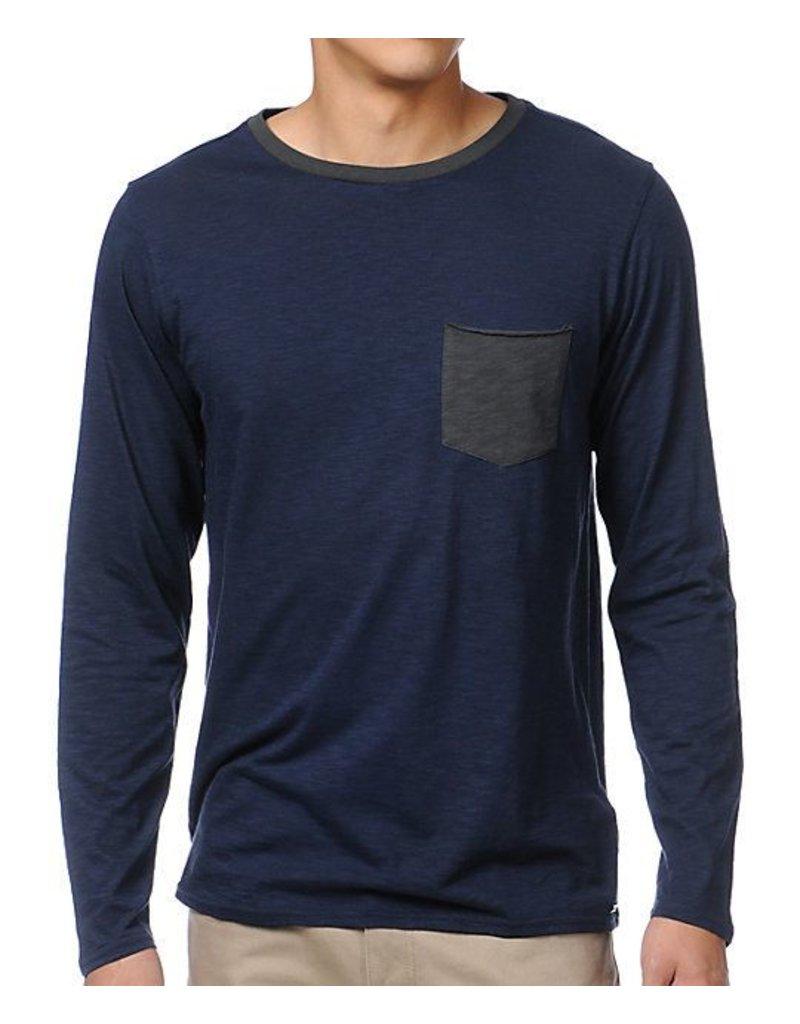 Analog Analog Modus Longsleeve Pocket T-shirt - Navy/Blue (X-Large)