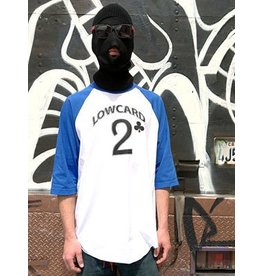 Lowcard Lowcard Baseball T-shirt - White/Blue