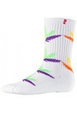 Psockadelic Psockadelic Huh White Rainbow Socks