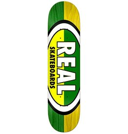 Real Real Team 50-50 Ovals Green/Yellow Deck - 8.5