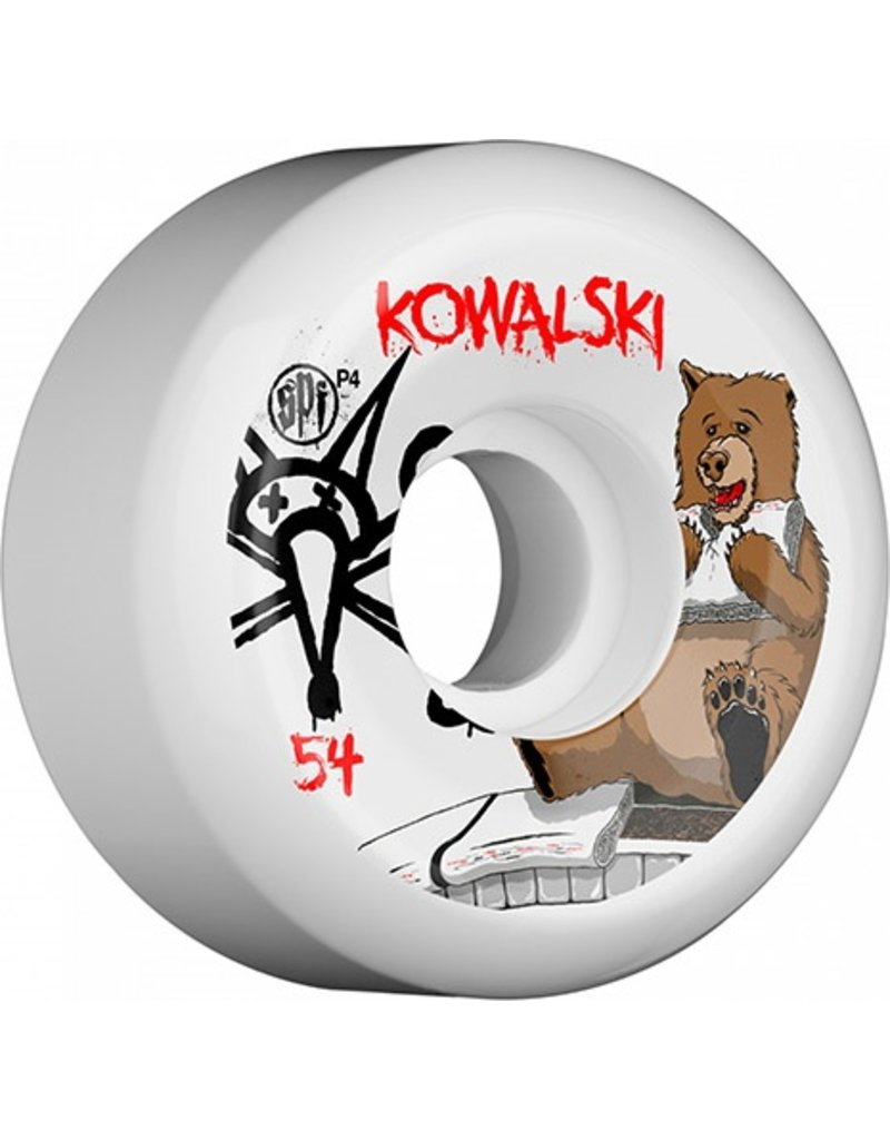 Bones Wheels Bones SPF Kowalski Bear 56mm wheels (set of 4)