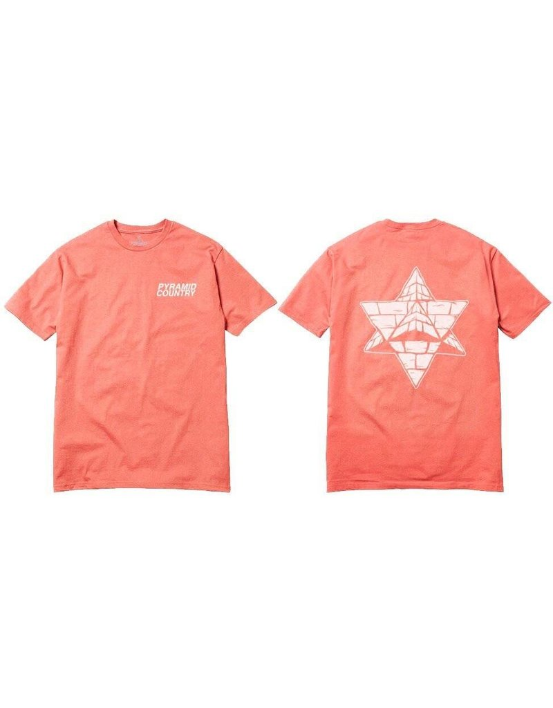 Pyramid Country Pyramid Country Coral Reef Logo T-shirt - Coral/White (X-Large)