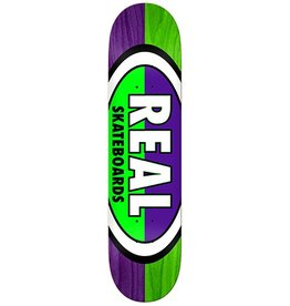 Real Real Team 50-50 Ovals Purple/Green Deck - 7.75