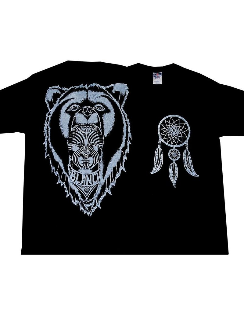Blanch Blanch Bear Skin T-shirt - Black (Large)