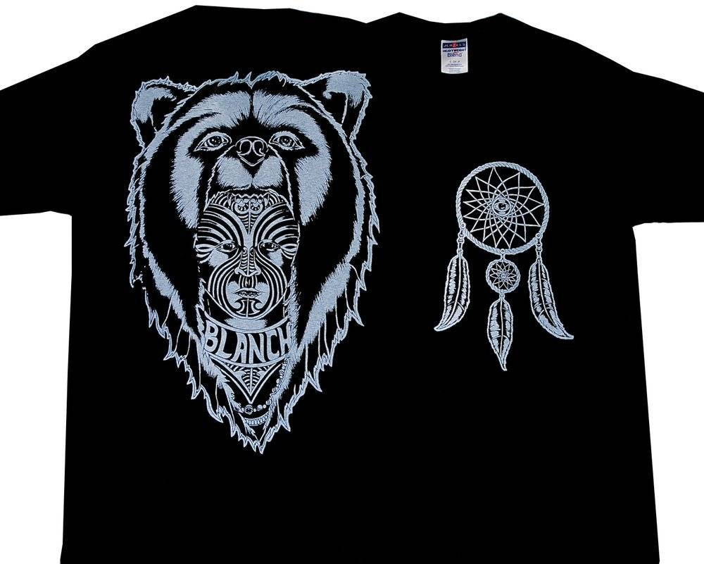 Blanch Blanch Bear Skin T-shirt - Black (Large)