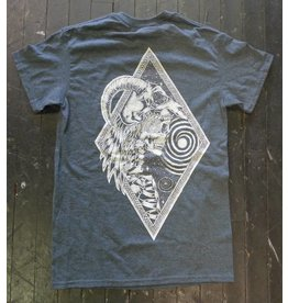 Blanch Blanch Skeleton Head Dress T-shirt - Heather Blue (Small)
